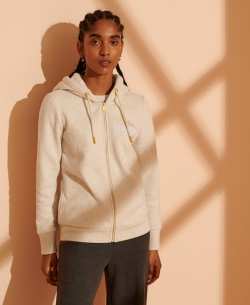 SUPERDRY ESTABLISHED ZIP HOOD Oatmeal Marl