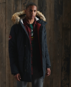 SUPERDRY Everest Parka Coat Eclipse Navy