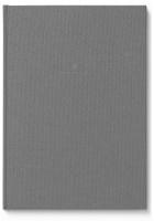 Buch mit Leineneinband A4 für Schreibmappe A4 Grau