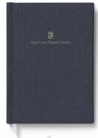 Buch mit Leineneinband A4 für Schreibmappe A5 Blau