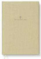 Buch mit Leineneinband A4 für Schreibmappe A5 Goldbraun