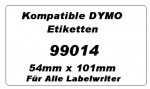 Kompatible Dymo Etiketten 99014 x 6 Rollen