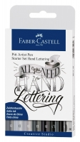 Faber Castell Tuschestift Pitt Artist Pen Lettering 8er Etui