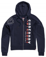 SUPERDRY - SD DIMENSIONAL PANELLD ZIPHOOD Navy