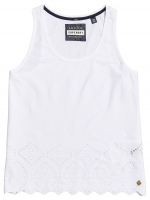 SUPERDRY - PACIFIC BRODERIE TANK Liner White