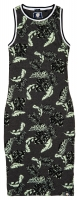 SUPERDRY - BEACH LEAF MIDI DRESS Tropical Charcoal Marl
