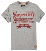 SUPERDRY - TOKYO BRAND HERITAGE CLASSIC TEE Grey Marl T-Shirt