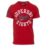 SUPERDRY LUCKY 8S VARSITY CNY TEE State Red