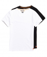 SUPERDRY SDRY LNDRY SLIM TEE DOUBLE PACK Laundry White/Laundry Black
