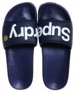 SUPERDRY POOL SLIDE Dark Navy/Optic White/Fluro Lime