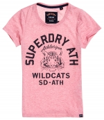 SUPERDRY SD MASCOT ENTRY TEE Abigail Blush Marl