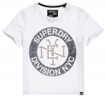 SUPERDRY SPORT LOGO REVERSE STUD BOXY TEE Optic