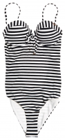 SUPERDRY ALICE TEXTURED CUPPED SWIMSUIT Mono Stripe