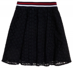 SUPERDRY TEAGAN SCHIFFLI SKIRT Navy