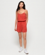 SUPERDRY TESS PLAYSUIT Washed Red