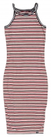 SUPERDRY TIANAMIDI DRESS Ice Marl/Red/Navy Stripe