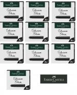 Faber-Castell 6 Tintenpatronen Standard schwarz x 10 Stück