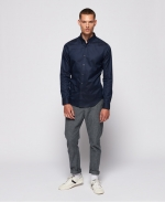 SUPERDRY EDIT BUTTON DOWN L/S SHIRT Navy