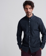 SUPERDRY EDIT BUTTON DOWN L/S SHIRT Rinse Wash