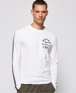 SUPERDRY SURPLUS GOODS LS CLASSIC GRAPHIC TEE Optic