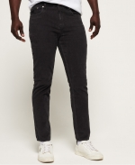 SUPERDRY SLIM TYLER CORD FIVE POCKET 34 Washed Black