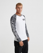 SUPERDRY CAMO INTERNATIONAL L/S TOP Optic
