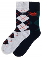 SUPERDRY PREPPY ARGILE SOCKS Grey Multipack