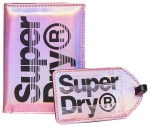 SUPERDRY PASSPORT AND LUGGAGE TAG SET Pink