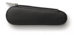 Faber Castell 2er Leder-Reißverschlußetui Design Schwarz