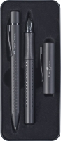 Faber Castell Füller M/Kuli Set Grip Edition All Black