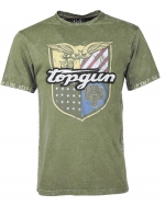 TOP GUN olive T-Shirt Insignia