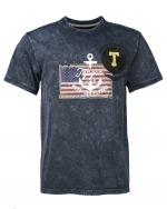 TOP GUN Navy T-Shirt Anchor US Flagg
