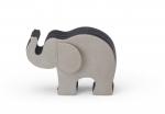 Graf von Faber-Castell Elefant M  Grau mit 12 Polychromos