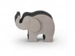 Graf von Faber-Castell Elefant S  Grau mit 12 Polychromos