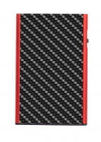 TRU VIRTU Karten Etui CLICK & SLIDE Carbon Fibre Black/Red