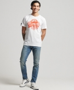 SUPERDRY VL CROSS HATCH TEE Optic T-SHIRT