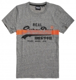 SUPERDRY VL CROSS HATCH TEE Collective Dark Grey Grit T-SHIRT