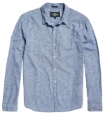 SUPERDRY Hemd LOOM L/S SHIRT Broken Chambray