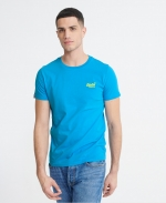SUPERDRY OL NEON LITE TEE Electric Blue