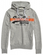 SUPERDRY VL CROSS HATCH HOOD Collective Dark Grey Grit