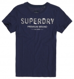 SUPERDRY PREMIUM SEQUIN ENTRY TEE Atlantic Navy