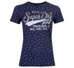 SUPERDRY RO DOT AOP ENTRY TEE Atlantic Navy