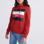 SUPERDRY STRIPE BLOCK ENTRY HOOD Apple Red
