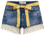 SUPERDRY LACE HOT SHORT Summer House Blue