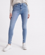 Superdry MID RISE SKINNY 30 30 Light Indigo Aged