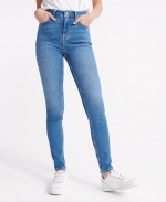 Superdry HIGH RISE SKINNY 30 Mid Indigo Used