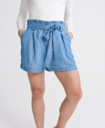 SUPERDRY DESERT PAPER BAG SHORTS Indigo Light