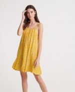 SUPERDRY DAISY BEACH DRESS Yellow Floral