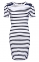 SUPERDRY EDEN LACE MIX DRESS White Stripe