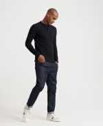 SUPERDRY EDIT L/S GRANDAD Washed Black